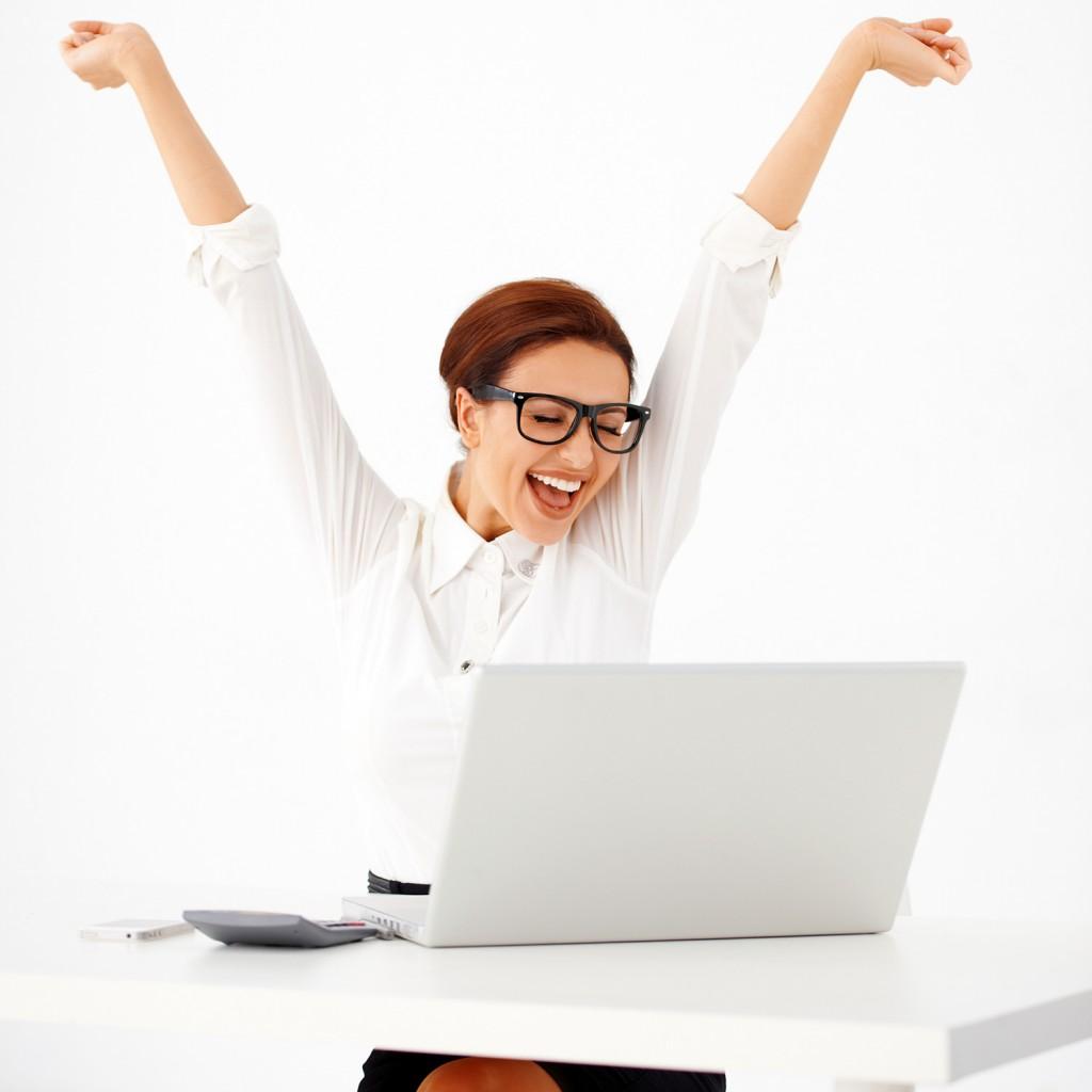 woman-work-computer-happy