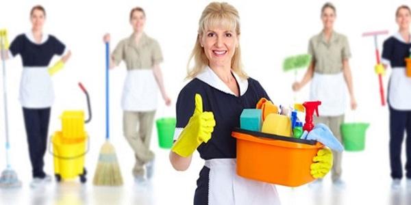 membersihkan peralatan rumah tangga